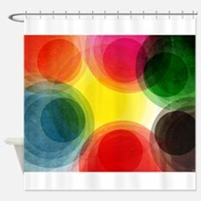 Colorful Retro Circles Shower Curtain