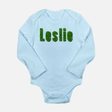 Leslie Grass Long Sleeve Infant Bodysuit