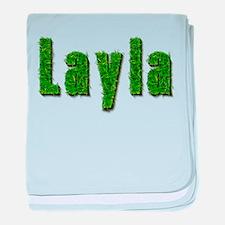 Layla Grass baby blanket
