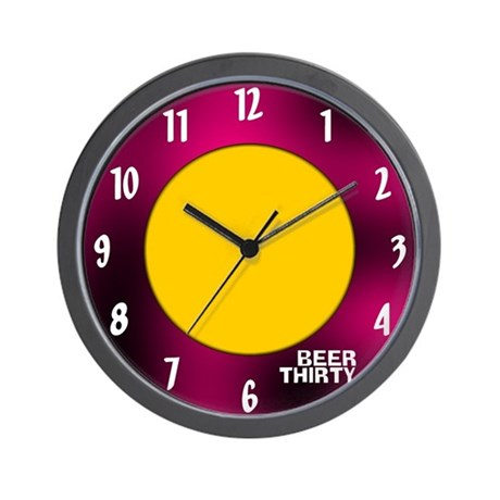 BEER THIRTY CLOCK.png Wall Clock