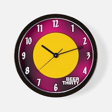 BEER THIRTY CLOCK.png Wall Clock