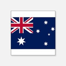 "Australia Flag Square Sticker 3"" x 3"""