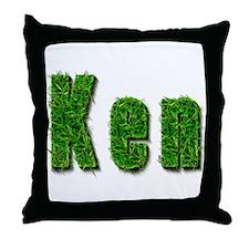 Ken Grass Throw Pillow