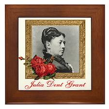 Julia Dent Grant Framed Tile