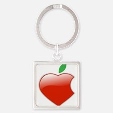 Cute I love apples Square Keychain