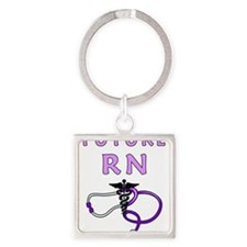 Nurse Future RN Square Keychain