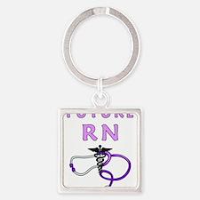 Nurse Future RN Square Keychain