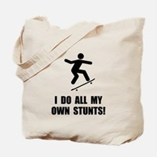 Do Skateboard Stunts Tote Bag
