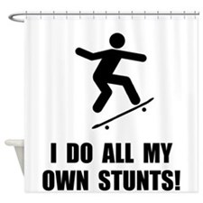 Do Skateboard Stunts Shower Curtain