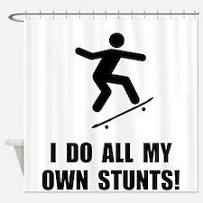 Do Skateboard Stunts Shower Curtain