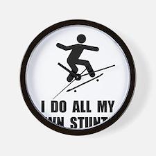 Do Skateboard Stunts Wall Clock