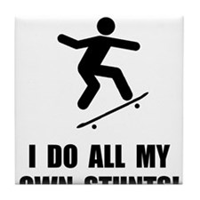 Do Skateboard Stunts Tile Coaster