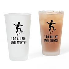 Do Skateboard Stunts Drinking Glass