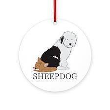 Sheepdog Ornament (Round)