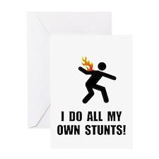 Do Fire Stunts Greeting Card