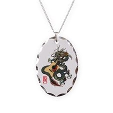 Dragon Guitar 01 Necklace Oval Charm