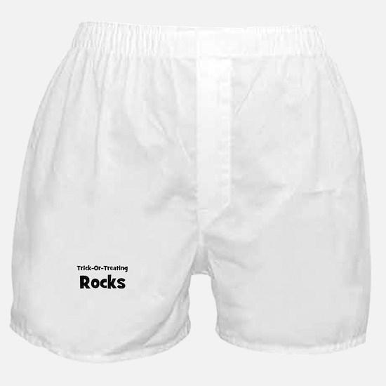 trick-or-treating rocks Boxer Shorts