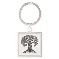 The Reading Tree Square Keychain