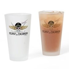 Cute Halloween pirate Drinking Glass