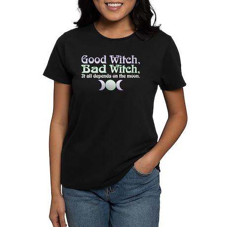 Good Witch, Bad Witch... Women's Dark T-Shirt