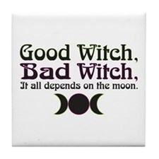 Good Witch, Bad Witch... Tile Coaster