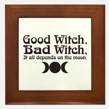 Good Witch, Bad Witch... Framed Tile