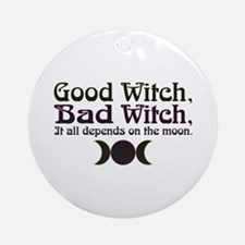 Good Witch, Bad Witch... Ornament (Round)