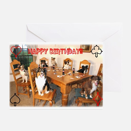 Aussies Playin' Poker Greeting Cards (Pk of 10