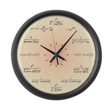 Math Clock (Light Yellow) Large Wall Clock