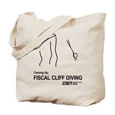 Fiscal Cliff Diving Tote Bag