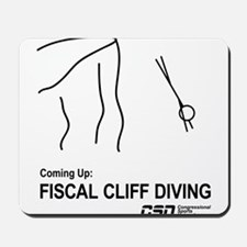 Fiscal Cliff Diving Mousepad