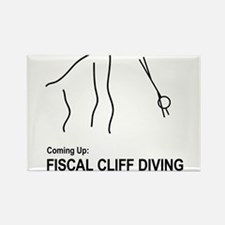 Fiscal Cliff Diving Rectangle Magnet