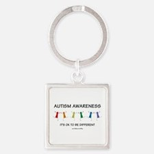 Autism Difference Square Keychain