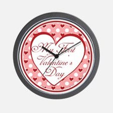 My First Valentines Day Wall Clock