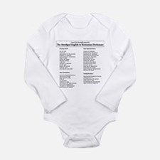 Boston-English Dictionary Long Sleeve Infant Bodys