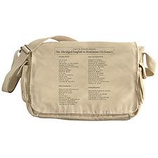 Boston-English Dictionary Messenger Bag