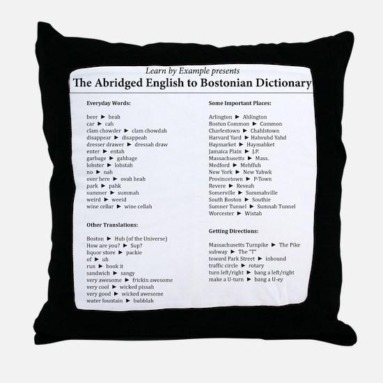 Boston-English Dictionary Throw Pillow