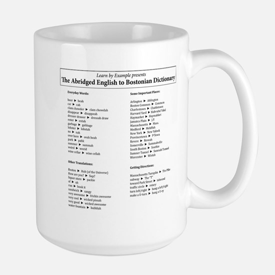 Boston-English Dictionary Large Mug