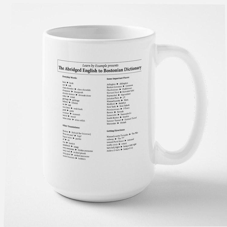 Boston-English Dictionary Large Mug