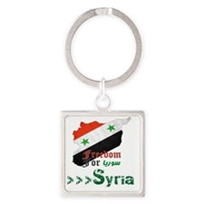 Freedom for Syria Square Keychain