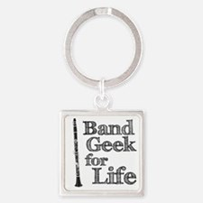 Clarinet Band Geek Square Keychain