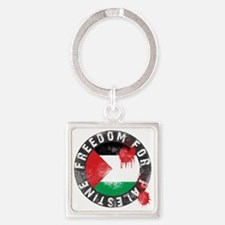 Freedom for PALESTINE 2011 Square Keychain