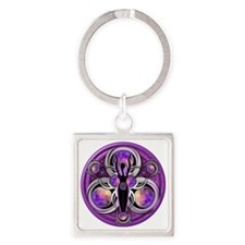 Goddess of the Purple Moon Square Keychain