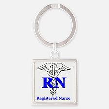 Registered Male Nurse Square Keychain