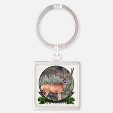 bow hunter, trophy buck Square Keychain