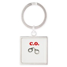 Correction Officer Square Keychain