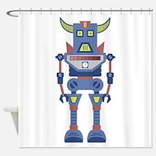 Warrior Robot Shower Curtain