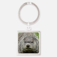 Groundhog eating Square Keychain