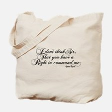 Jane Eyre No Right To Command Me Tote Bag