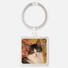 Cat Square Keychain